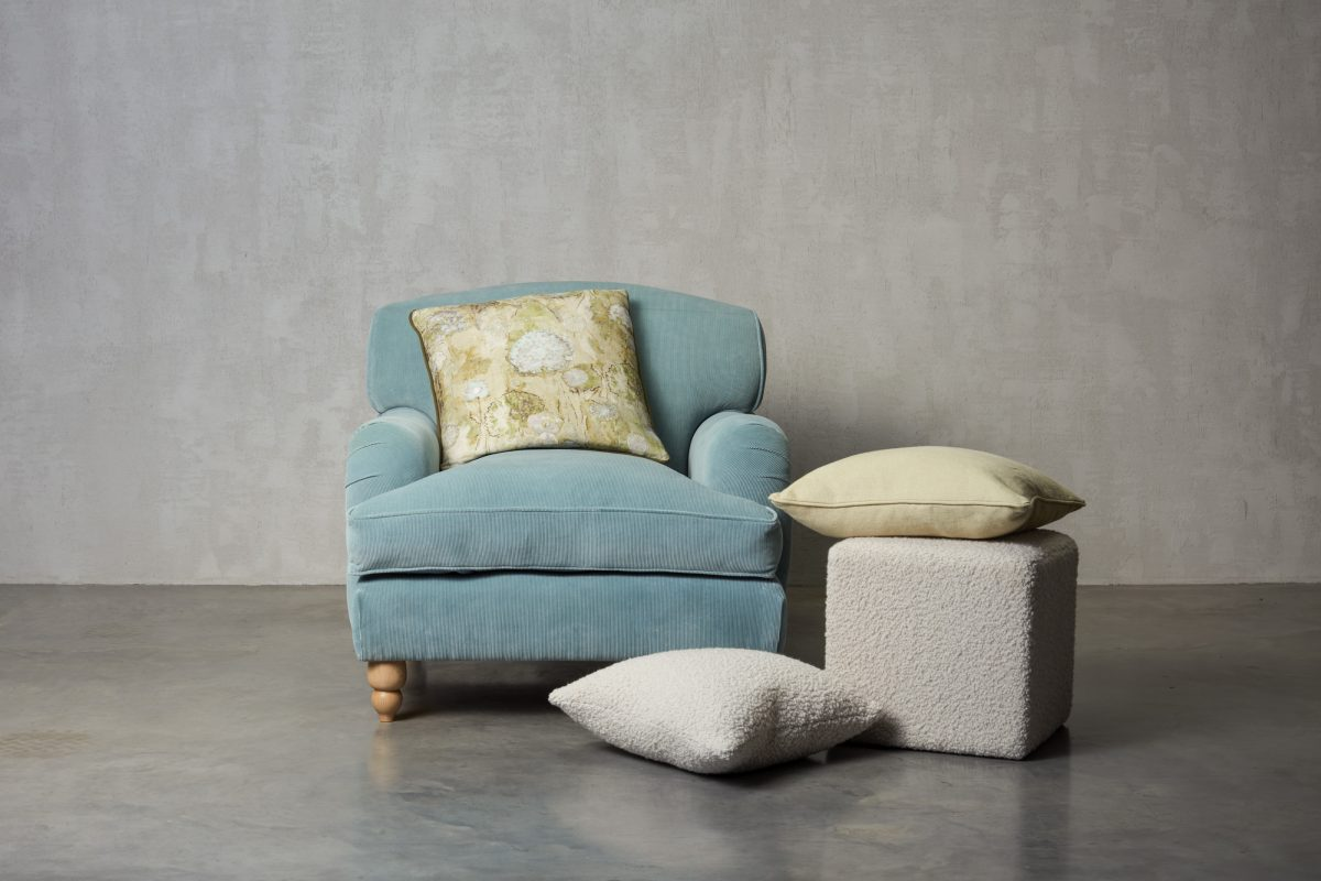 Chair and cushions made by UP Sofa Makers