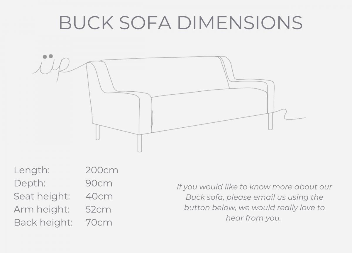 Buck sofa dimensions