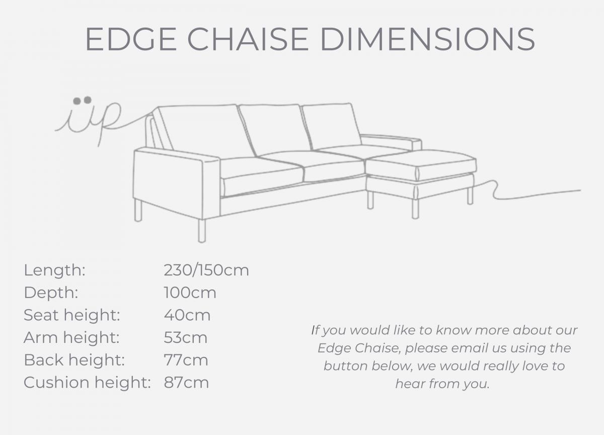 EDGE CHAISE dimensions