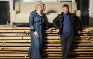 Laura and Warrick from UP Sofa Makers Interiors