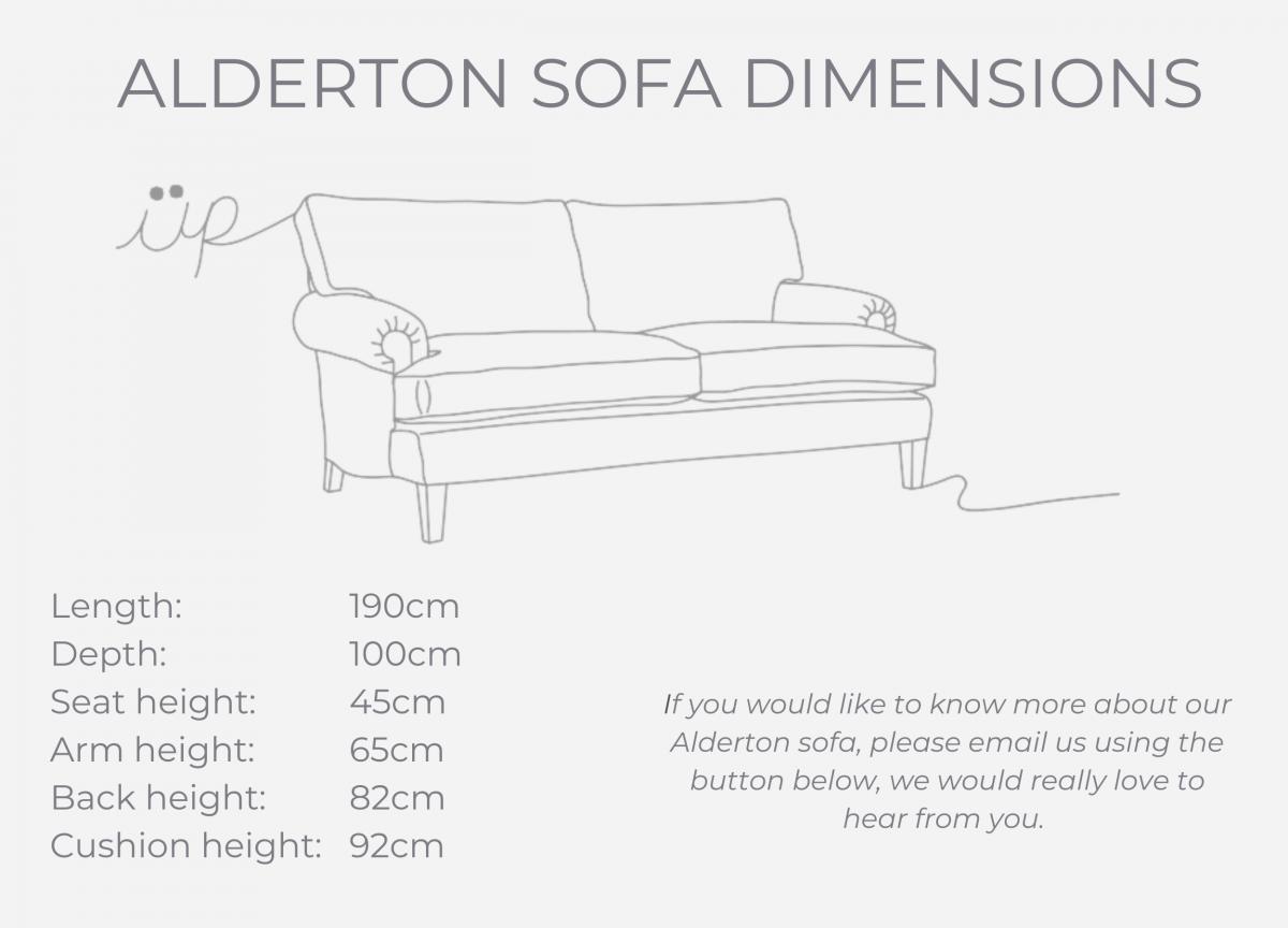 Alderton sofa dimensions