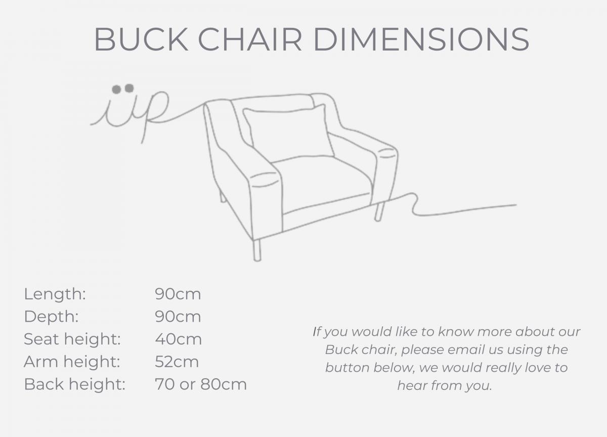 BUCK CHAIR dimensions