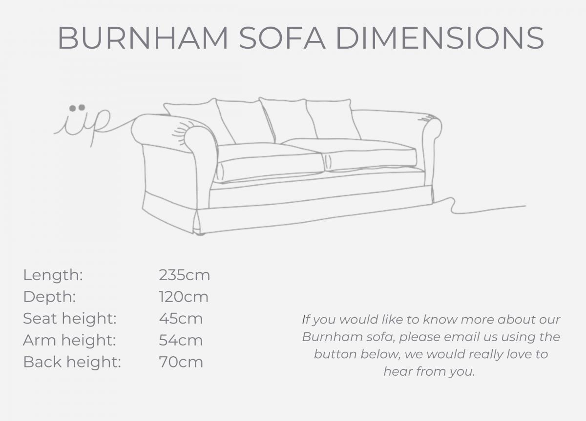 Burnham sofa dimensions