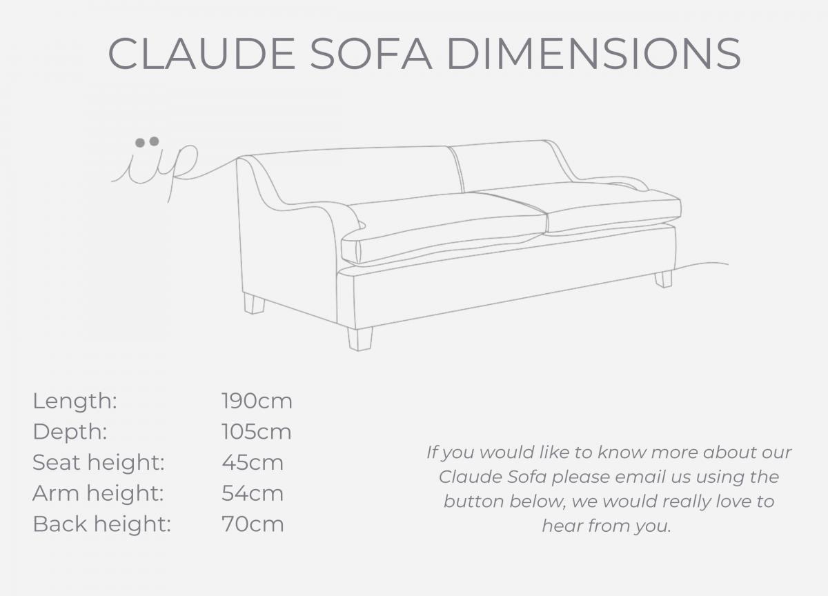 Claude Sofa dimensions