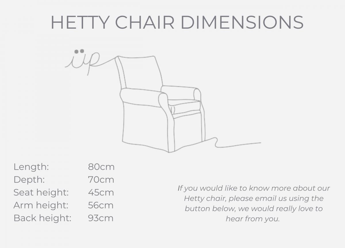 HETTY dimensions