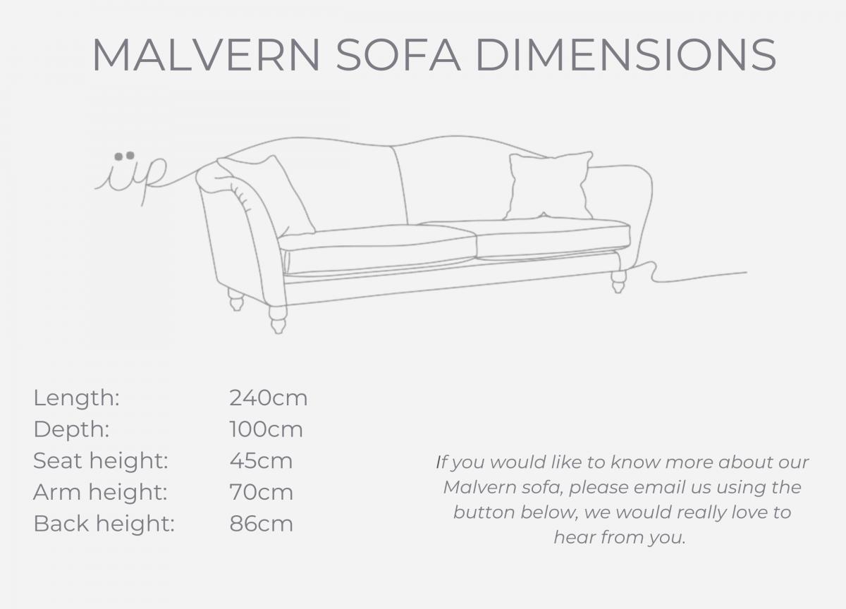 Malvern sofa dimensions
