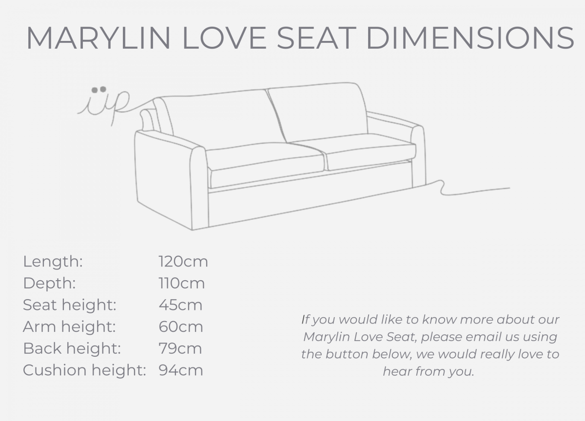Marylin Love Seat dimensions