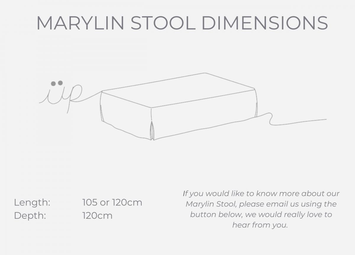 Marylin Stool dimensions