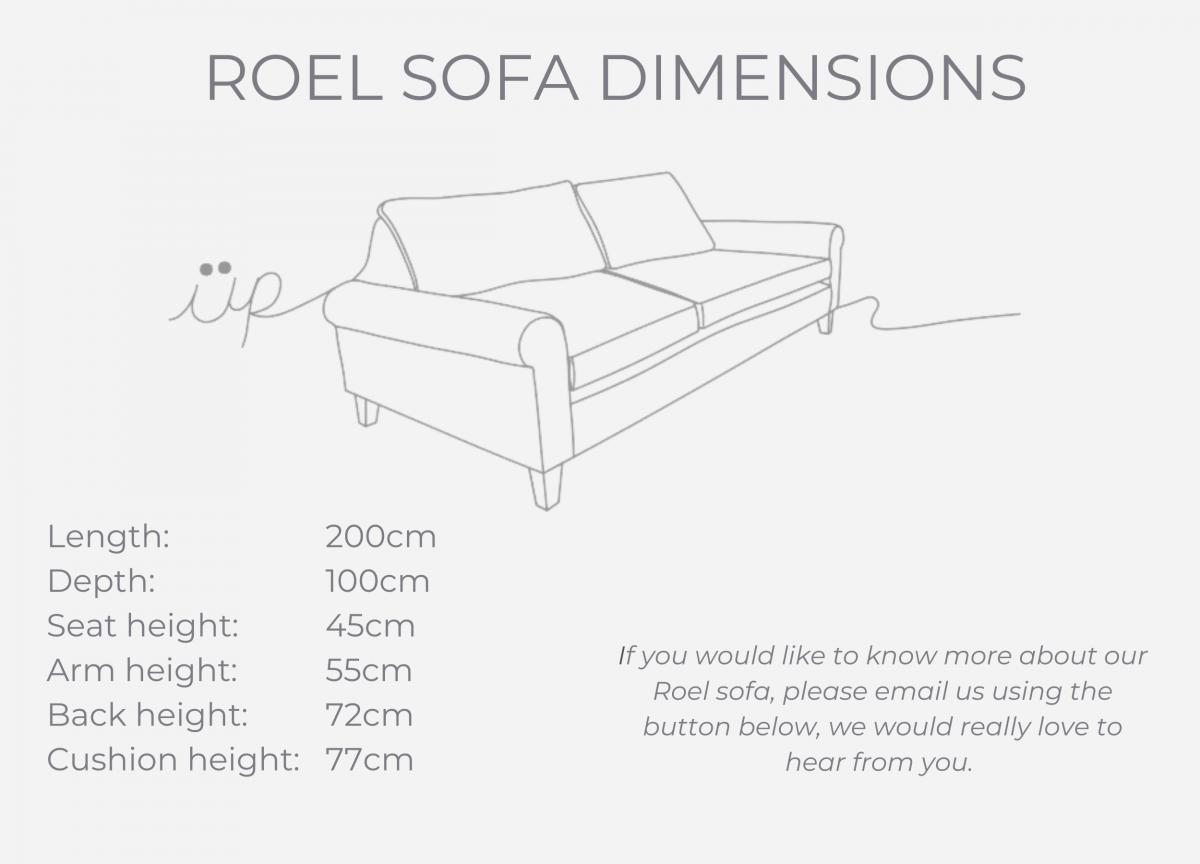 Roel sofa dimensions