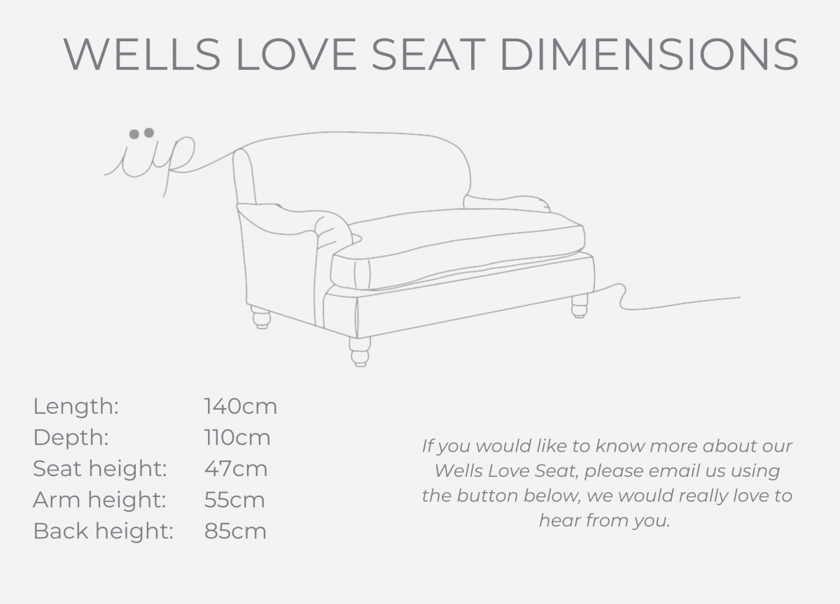 Wells Love Seat dimensions (1)