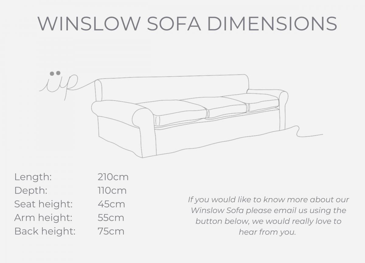 Winslow sofa dimensions
